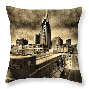Nashville Grunge Throw Pillow by Dan Sproul