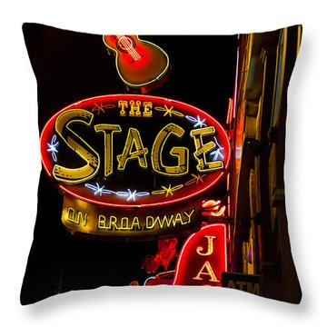 Nashville Night Life Throw Pillow