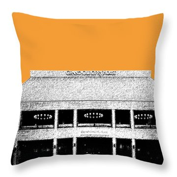 Nashville Skyline Grand Ole Opry - Orange Throw Pillow by DB Artist