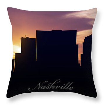Nashville Sunset Throw Pillow by Aged Pixel