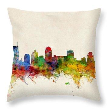 Nashville Skyline Throw Pillows