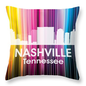 Nashville Tn 2 Throw Pillow by Angelina Vick