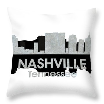 Nashville Tn 4 Throw Pillow by Angelina Vick