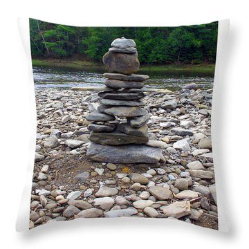 Nashwaak Inukshuk Throw Pillow