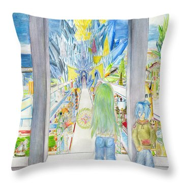 Throw Pillow featuring the painting Nastros by Shawn Dall