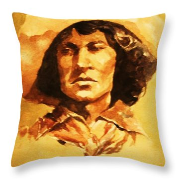 Nat Love Bronc Buster Throw Pillow by Al Brown