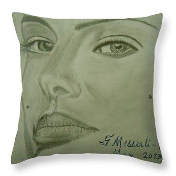 Natalie Throw Pillow by Fladelita Messerli-