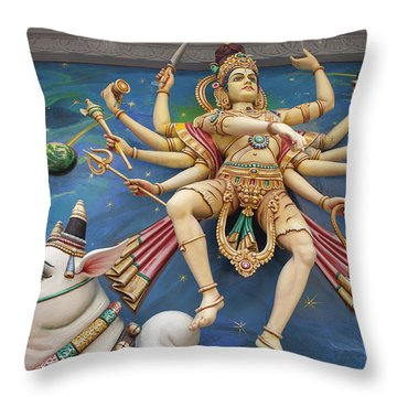 Nataraj Dancing Shiva Statue Throw Pillow by Jit Lim