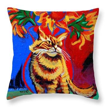 Natasha Throw Pillow by Genevieve Esson