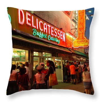 Nathans Coney Island Throw Pillow