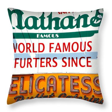Nathan's Sign Throw Pillow