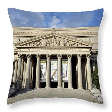 National Archives Building - Washington Dc Throw Pillow