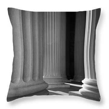 National Archives Columns Throw Pillow by Inge Johnsson