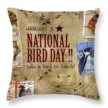 National Bird Day Throw Pillow