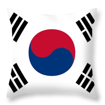 National Flag Of South Korea Authentic  Throw Pillow