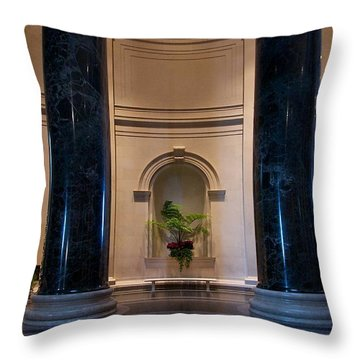 National Gallery Of Art Christmas Throw Pillow by Stuart Litoff