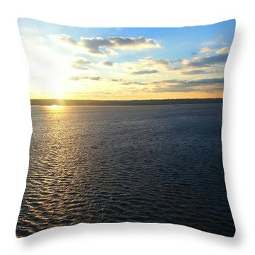 National Harbor View From Ferris Wheel Throw Pillow