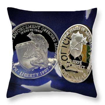National Law Enforcement Memorial Mint Throw Pillow by Gary Yost
