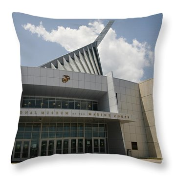 National Museum Of The Marine Corps Throw Pillow by Carol Lynn Coronios