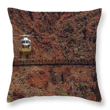 National Park Helicopter Throw Pillow