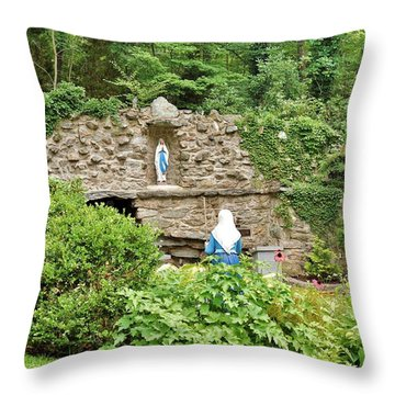 National Shrine Grotto Of Our Lady Of Lourdes Throw Pillow