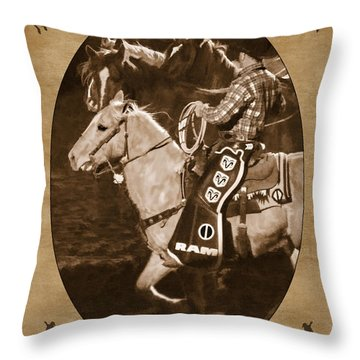 National Western Stock Show Throw Pillow by Priscilla Burgers