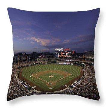 Nationals Park Washington D.c. Throw Pillow