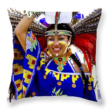 Native American Beauty Throw Pillow
