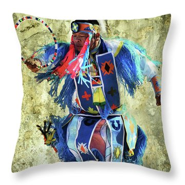Throw Pillow featuring the photograph Native American Dancer by Barbara Manis