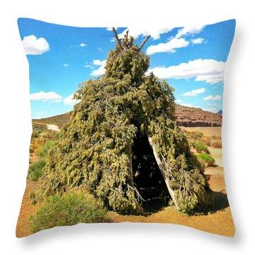 Native American Desert Cedar Lodge Throw Pillow by John Malone