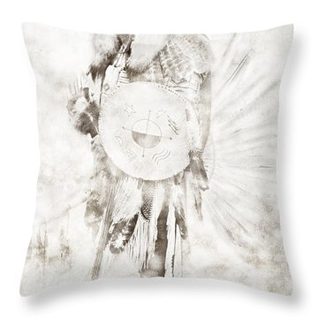 Throw Pillow featuring the digital art Native American by Erika Weber