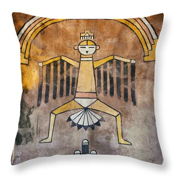 Native American Great Spirit Pictograph Throw Pillow