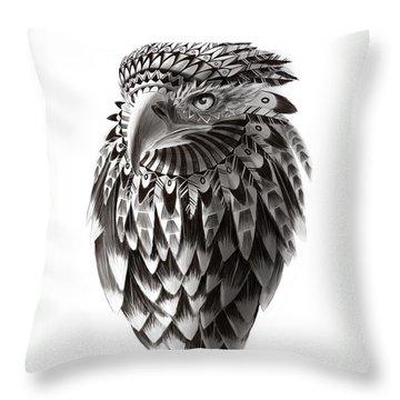 Native American Shaman Eagle Throw Pillow