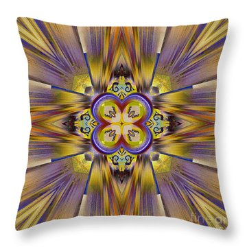 Native American Spirit Throw Pillow by Deborah Benoit