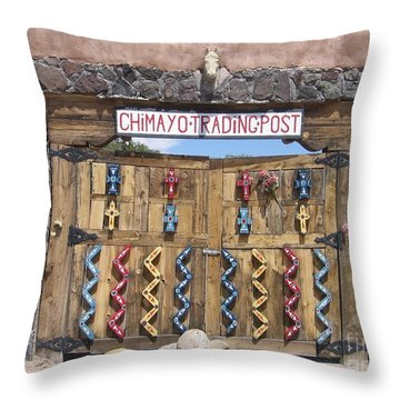 Throw Pillow featuring the photograph Native American Trading Post by Dora Sofia Caputo Photographic Art and Design