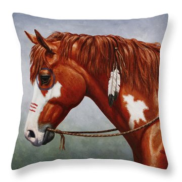 Pinto Horse Throw Pillows