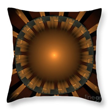 Native Sun Throw Pillow by Arlene Sundby