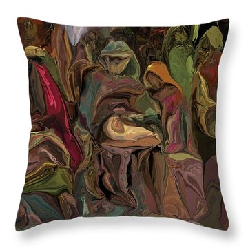 Nativity 1113 Throw Pillow by David Lane