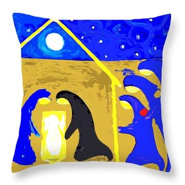 Nativity 2 Throw Pillow by Patrick J Murphy
