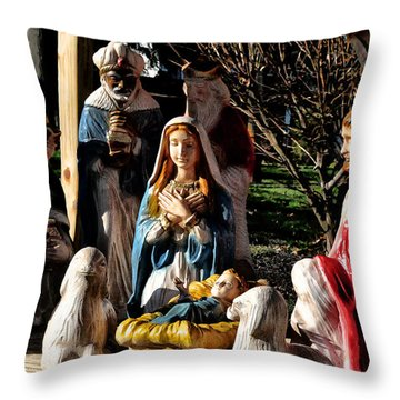 Nativity Throw Pillow by Bill Cannon