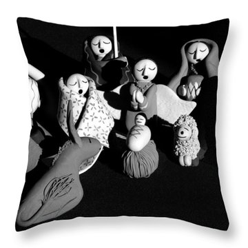 Throw Pillow featuring the photograph Nativity Earthenware by Ron White