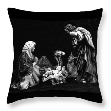 Throw Pillow featuring the photograph Nativity  by Elf Evans