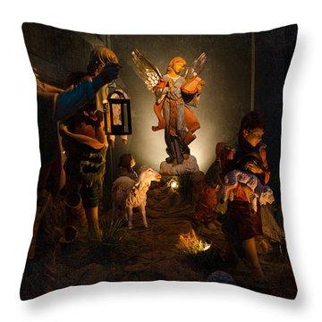 Nativity  Throw Pillow by Susan  McMenamin