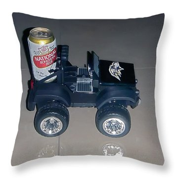 Natty Boh Throw Pillow by Brian Wallace