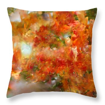 Natural Abstractions #12 The Orange Tree Throw Pillow