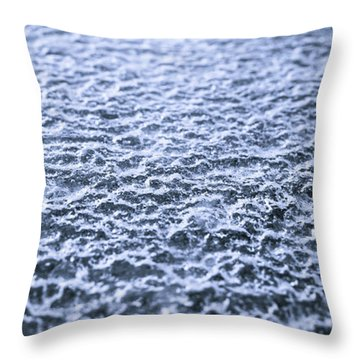 Natural Abstracts - Icy Surface Throw Pillow