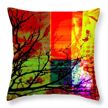 Throw Pillow featuring the digital art Natural Beauty #1 by Diana Riukas