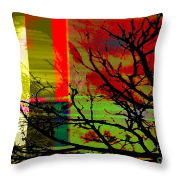 Throw Pillow featuring the digital art Natural Beauty #2 by Diana Riukas