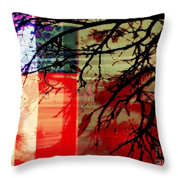Throw Pillow featuring the digital art Natural Beauty #3 by Diana Riukas