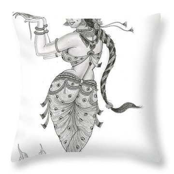 Dancing In Nature Throw Pillow